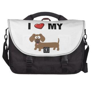 I love my dachshund laptop computer bag