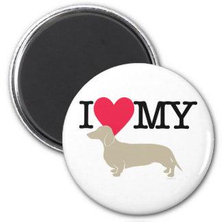 I Love My Dachshund ! Magnet