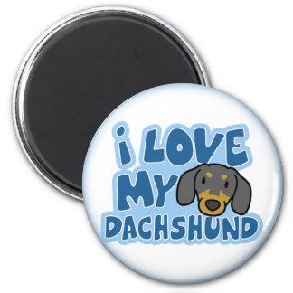 I Love My Dachshund Magnet