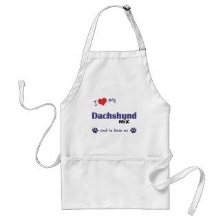 I Love My Dachshund Mix (Male Dog) Adult Apron