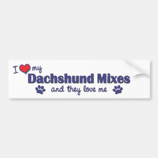 I Love My Dachshund Mixes (Multiple Dogs) Bumper Sticker
