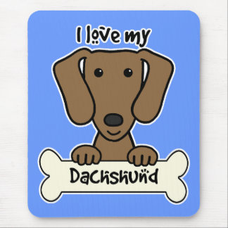 I Love My Dachshund Mouse Pad