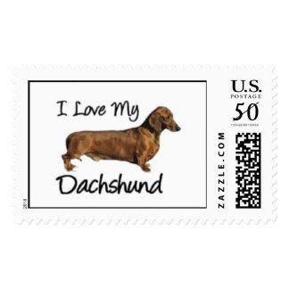I Love My Dachshund Postage