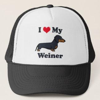 I love my Dachshund pup Trucker Hat