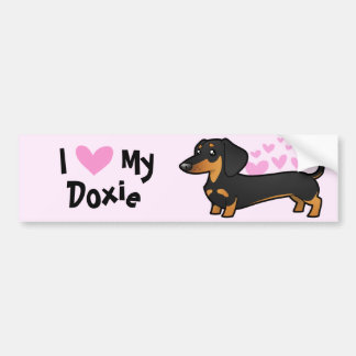 I Love My Dachshund (smooth coat) Bumper Sticker