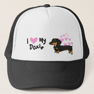 I Love My Dachshund (smooth coat) Trucker Hat