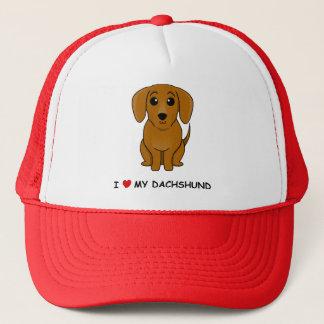 I love my Dachshund (smooth) Trucker Hat