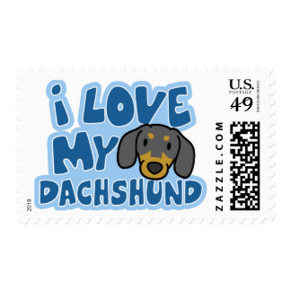 I Love my Dachshund Stamps