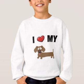 I love my dachshund sweatshirt