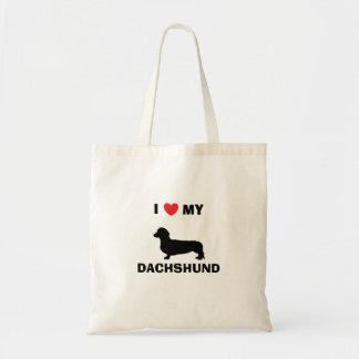 """""""I Love My Dachshund"""" Tote Bag"""