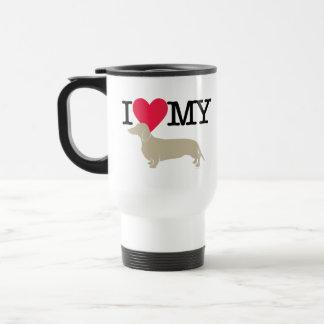 I Love My Dachshund ! Travel Mug