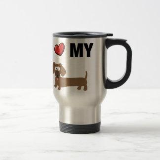 I love my dachshund travel mug