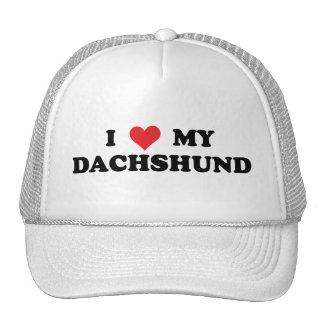 I Love My Dachshund Trucker Hat