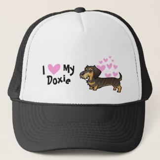 I Love My Dachshund (wirehair) Trucker Hat