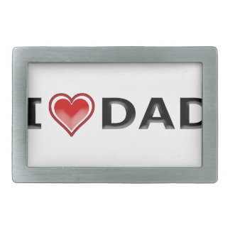 I Love My Dad Belt Buckle