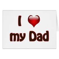 I love my Dad Card