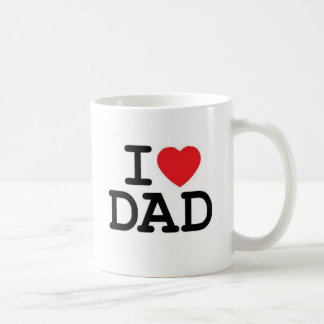 I love my dad! classic white coffee mug