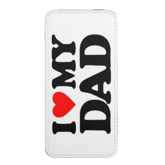 I LOVE MY DAD iPhone 5 POUCH