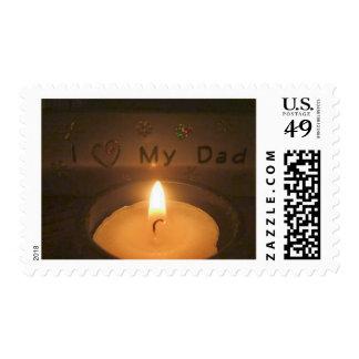 I Love My Dad- Postage Stamp