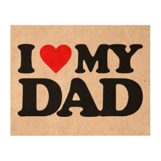 I LOVE MY DAD PHOTO CORK PAPER