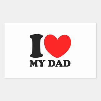 I Love My Dad Rectangular Sticker