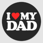 I LOVE MY DAD STICKER