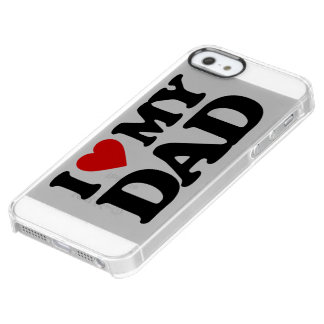I LOVE MY DAD UNCOMMON CLEARLY™ DEFLECTOR iPhone 5 CASE