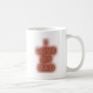 I Love My Dad (White) Mug