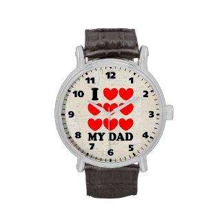 I Love My Dad Wrist Watch