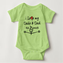 I love my Dada & Dadi (Grandma & Grandpa)! Baby Bodysuit