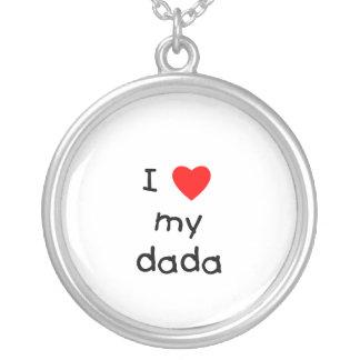 I Love My Dada Round Pendant Necklace