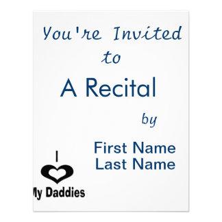 I love my daddies Daddy design with heart Invites