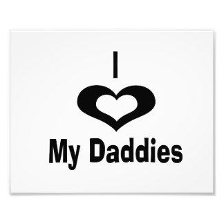 I love my daddies Daddy design with heart Photo Print