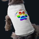 "I Love My Daddies Rainbow Paw Dog Tees<br><div class=""desc"">I Love My Daddies Rainbow Paw Dog Tees</div>"