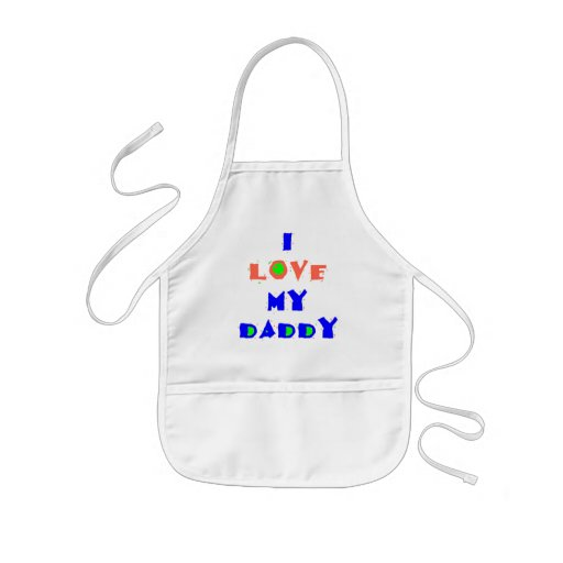 I Love My DADDY Apron