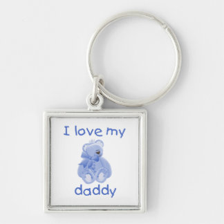 I Love My Daddy (blue bear) Key Chain