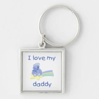 I Love My Daddy (blue bear w/ star) Key Chain