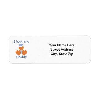 I Love My Daddy (boy duck) Return Address Label