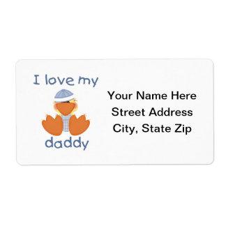 I Love My Daddy (boy duck) Shipping Label