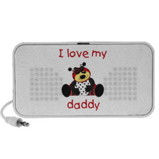 I Love My Daddy (girl bug) Mini Speaker
