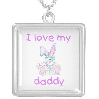 I Love My Daddy (girl bunny) Pendants