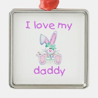 I Love My Daddy (girl bunny) Ornament