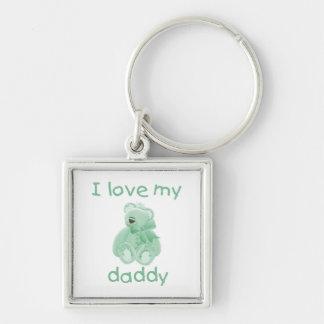 I Love My Daddy (green bear) Keychains