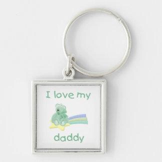 I Love My Daddy (green bear w/ star) Keychains