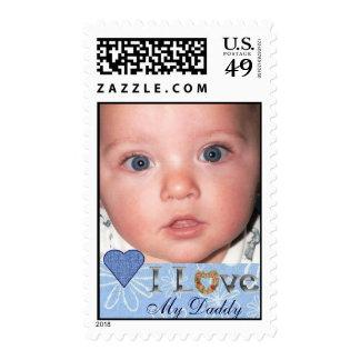 I love my Daddy Photo Postage Stamp