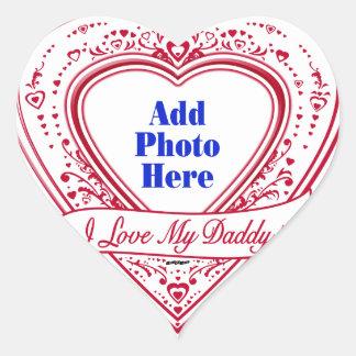 I Love My Daddy! Photo Red Hearts Heart Sticker