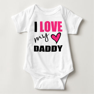 I Love My Daddy Pink Baby Shirt