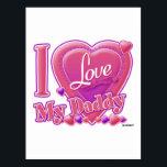 "I Love My Daddy pink/purple - heart Postcard<br><div class=""desc"">I Love My Daddy pink/purple - heart</div>"