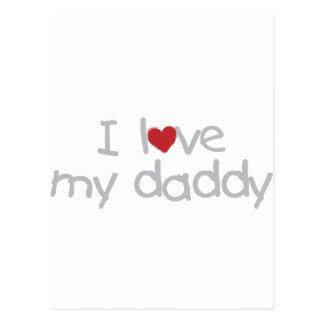 I Love My Daddy Postcards