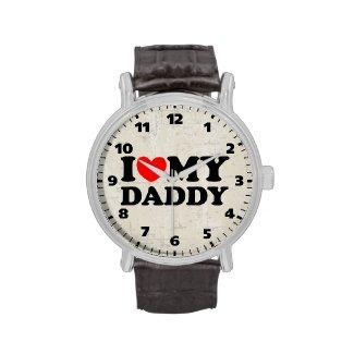 I Love My Daddy Wrist Watches